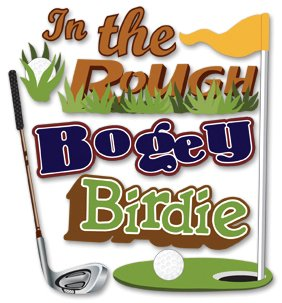 Jolees Boutique Golf - Jolee's Boutique Dimensional Stickers Boget, Birdie, In the Rough, Golf Theme