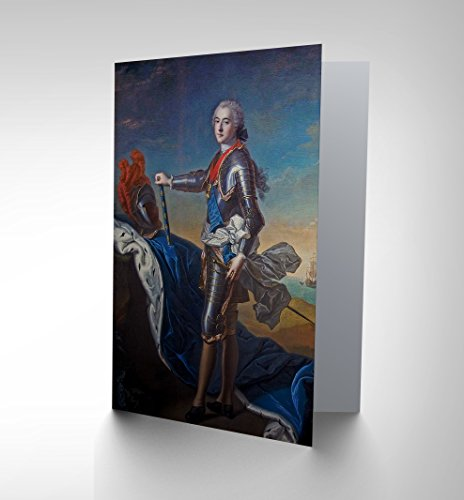 CARD GREETING PAINTING PORTRAIT NATTIER LOUIS DE BOURBON GIFT CP2439