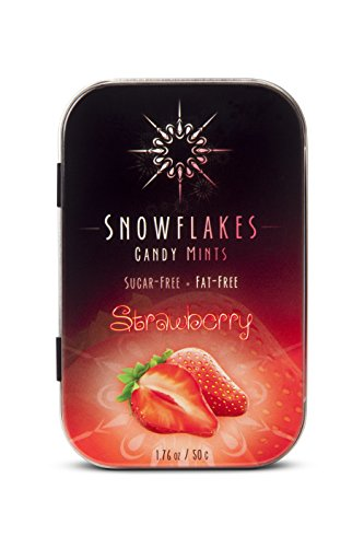 [Snowflakes Xylitol Candy (Strawberry)- Made with only 2 ingredients; Cleanest birch Xylitol candies on the market!] (2 Snowflake)