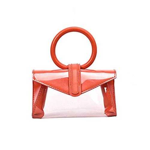 (Pengy Women's PVC Shoulder Bag Tote Crossbody Bags Summer Handbag Retro Ring Handbag Ladies)