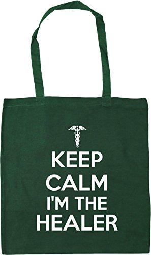 calm Shopping Keep healer 10 the Bottle Green 42cm HippoWarehouse litres I'm x38cm Beach Bag Gym Tote wf4AYnq5