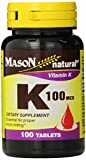 Cheap Mason Natural, Vitamin K, 100 Mcg Tablets, 100 Count Bottle (EACH),Dietary Supplement Supports Healthy Intestine and Liver Functions, May Help Prevent Calcification in Arteries