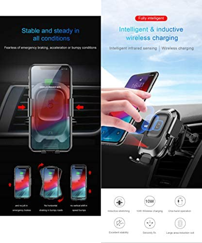 WSSZZ319 Supporto del Telefono Veicolare Sensore Intelligente, per iPhone XS XR Fast Qi Wireless Charger Air Vent Mount Mobile