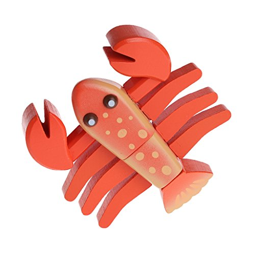 Cutting Food - Wooden Play Food Kitchen Accessory,Lobster