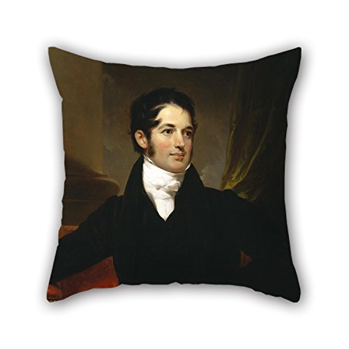 Artistdecor 16 X 16 Inches / 40 By 40 Cm Oil Painting Thomas Sully - Portrait Of James Cornell Biddle Cushion Covers ,2 Sides Ornament And Gift To Outdoor,wife,family,adults,lounge,dining Room
