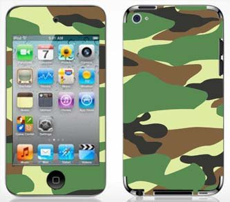 - Green Camo Skin for Apple iPod Touch 4G 4th Generation