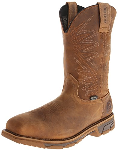 Irish Setter Work Men's 83912 Marshall 11'' Pull-On Steel Toe Waterproof Work Boot,Brown,9.5 D US by Irish Setter