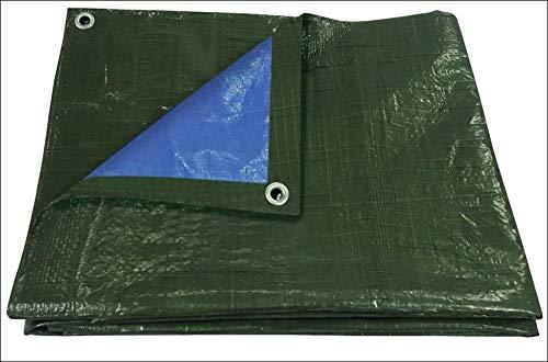 Vert//bleu b/âche de protection l/ég/ère tress/ée 3x2-6 m/² /Œillets tous les 100 cm 70g//m/²