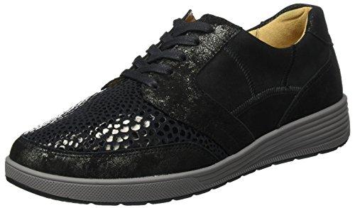 Ganter Sensitiv Klara-k, Zapatos de Cordones Derby para Mujer negro