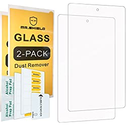 [2-PACK]-Mr Shield For All-New Fire 7 Tablet with Alexa (7th Generation - 2017 release ONLY) [Tempered Glass] Screen Protector with Lifetime Replacement Warranty