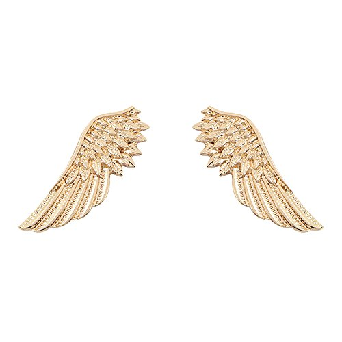 - star and sea Elegant Angel Wings Suit Pin Collar Pin Brooch for Unisex (Gold)