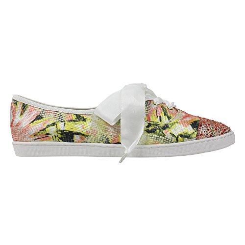 J.renee Womens Skonaren Mode Sneaker Korall Multi