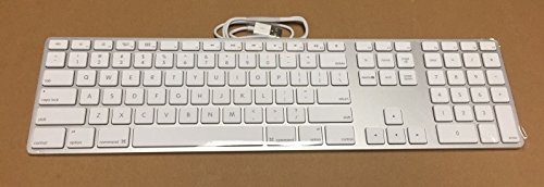 Apple Aluminum Wired Keyboard MB110LL/A by Apple