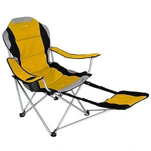 Sportline Xl Quad-Fold Chair with Footrest Color: Blue