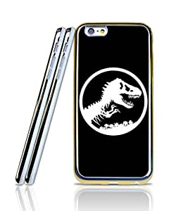 IPhone 6s Plus Funda Case, Film Jurassic World Logo Two in One [Golden - Bordered] Flexible TPU Ultra Slim + Nice Style 2 in 1 Plastic Funda Case For IPhone 6 6s Plus[5.5 inch]