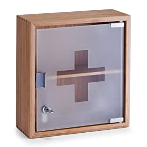 Zeller 13594 Medicine Cabinet 29x12x31 Cm Bamboo And Glass Part 52