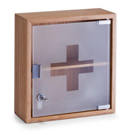 Zeller 13594 Medizinschrank, Bamboo/Glas / 29 x 12 x 31