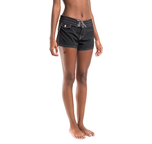 Birdwell Women's Stretch Board Shorts - Regular Rise (Black, 8) by Birdwell Beach Britches (Image #7)
