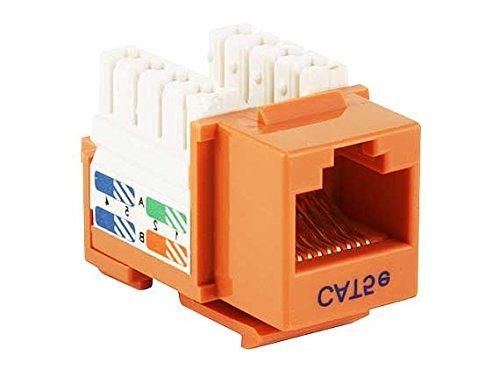 (Cable Leader Cat5e RJ45 UTP 110 Type Punch Down Keystone 50 Pack (Orange))