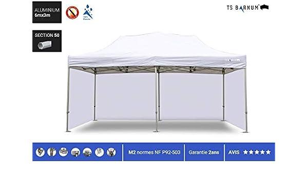 Barnum - Carpa plegable de aluminio #50 - Barnum - Pérgola plegable - Pabellón - Sombrillas, toldos y toldos - Muebles de jardín, color blanco, tamaño 6m x 3m (M2), 108.03, 66.14 x 12.99 x 22.83inches: Amazon.es: Jardín