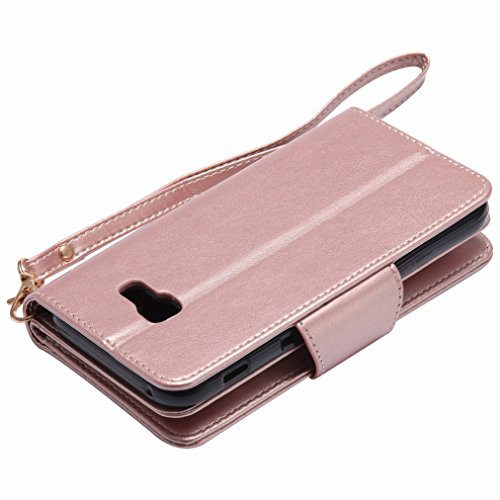 Yiizy Samsung Galaxy A5 (2017) Funda, Chica Repujado Diseño Solapa Flip Billetera Carcasa Tapa Estuches Premium PU Cuero Cover Cáscara Bumper Protector Slim Piel Shell Case Stand Ranura para Tarjetas