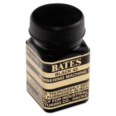 Refill Ink for Numbering Machines, 1 oz Bottle, Black, Sold as 1 Each ()
