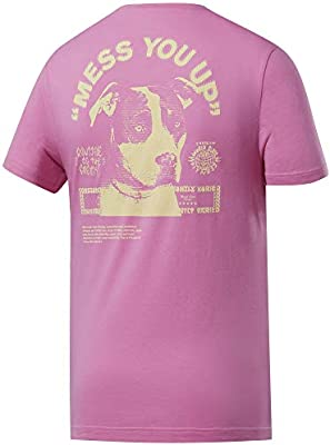 Reebok CF Mess You Up Graphic tee Camiseta de Manga Corta, Hombre ...