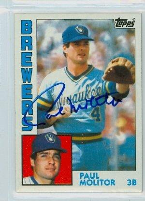 Molitor Paul Autograph (Paul Molitor AUTOGRAPH 1984 Topps #60 Milwaukee Brewers)
