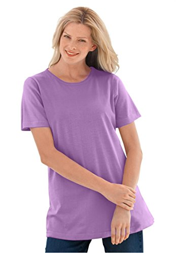 Womens-Plus-Size-Top-Perfect-Crewneck-Tee-In-Soft-Cotton-Knit