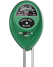 Soil Test Kit, 3-in-1 Soil/pH/Light Meter for Plant Care, Dr.meter S30 Soil Moisture Meter/Soil pH Meter for Garden Farm Outdoor & Indoor Use, Plant Water Meter, Soil pH Tester, No Battery Needed