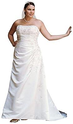Satin SAMPLE: A-line Side Drape Strapless Wedding Dress Style AI13011114