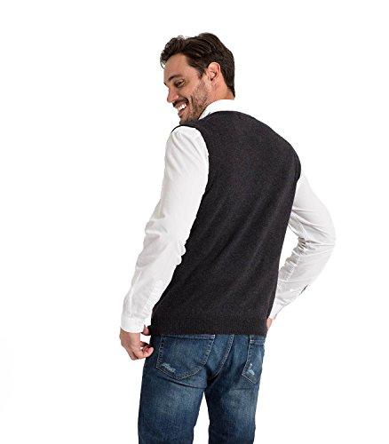 WoolOvers Pullunder aus Baumwolle-Kaschmirwolle für Herren Charcoal, M