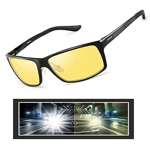 (Night Driving Glasses,Anti Glare Safety Night Vision HD Glasses Polarized Sunglasses for Men)