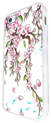 1340 - Cool Fun Trendy Cute Kawaii Japanese Chinese Hanging Colourful Floral Flowers Collage Design iphone SE - 2016 Coque Fashion Trend Case Coque Protection Cover plastique et métal - Blanc