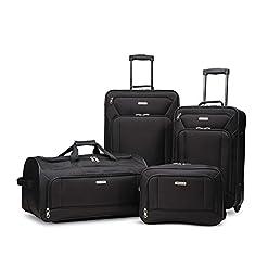 WMB Travel Pro 41KRQGTh3RL._SS247_ American Tourister Fieldbrook XLT Softside Upright Luggage, Black, 4-Piece Set (BB/DF/21/25)