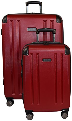 - Kenneth Cole Reaction 8 Wheelin Expandable Luggage Spinner Wheeled Suitcase, 2 Pc Set , 29 & 20-inch (Red)