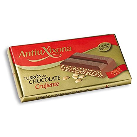 Antiu Xixona Turrón de Chocolate Crujiente - 200 g: Amazon.es: Amazon Pantry
