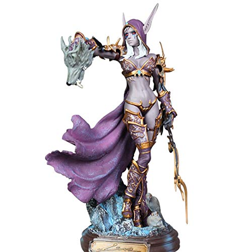 LHZHG Modelo de Anime Personaje Figura de PVC de World of Warcraft Personajes de Sylvana Estatua Modelo Decoracion del hogar Arte Regalos
