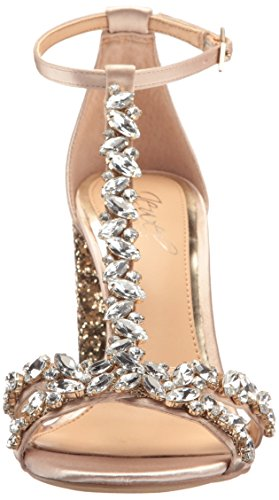 Badgley Mischka Jewel Womens Carver Dress Sandalo Champagne