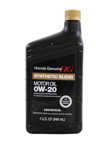 Genuine Honda Fluid 08798-9036 0W-20 Full Synthetic Blend Motor Oil - 1 Quart Bottle