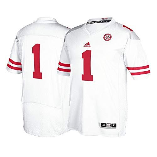 adidas Nebraska Cornhuskers #1 NCAA Men's White Premier Football Jersey (4XL) 1 Premier Football Jersey