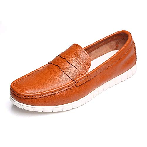 8 testa casual uomo uomo Slip On Brown da UK Taglia 5 Dimensione da Yellow HhGold 8 5 9 uomo per a blu uomo Colore Colore comode da UK Nero 7 Scarpe mocassini tonda US US vwtPOqg