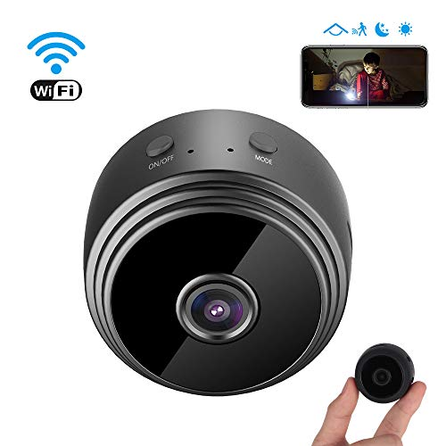 Mini Spy Camera Wireless Hidden Camera, MEckily WiFi Full HD 1080P Portable Nanny Cam with Night Vision and Motion Detection, Remote View with Cell Phone App iPhone/Android/iPad/PC