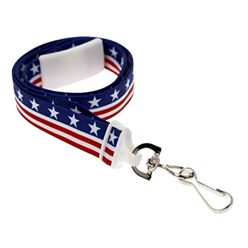 USA Stars & Stripes Breakaway Lanyard with Swivel Hook Packaged and Sold Individually by Specialist ID (The Brand With The Three Stripes Lanyard)