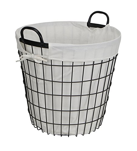 Cheung's 16S004 Lined Metal Wire Basket with handles, -