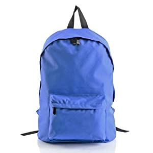 The Pecan Man Blue Unisex Satchel Travel School Bag Rucksack Canvas Stars Backpack