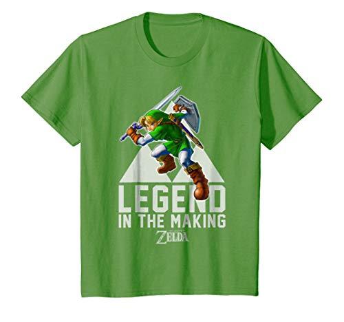 Kids Nintendo Zelda Link Legend In The Making Triforce T-Shirt 8 Grass -