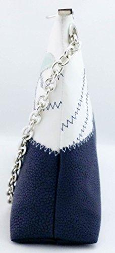 elbaavoile - Cartera de mano de Piel para mujer Varios Colores multicolor azul