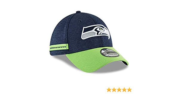 4f476c211 Amazon.com  New Era 2018 39Thirty NFL Seattle Seahawks Sideline Home Flex  Hat Cap 11763357  Clothing