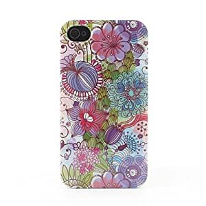 QHY Colorful Flowers Style Hard Back Case for iPhone 4/4S